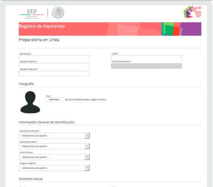 Completar el registro de solicitud